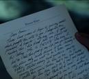 Thomas Wayne's letter
