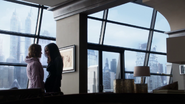 Barbara Kean and Renee Montoya talking in Kean's penthouse
