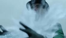 Edward Is frozen in ice