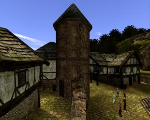 Środkowo - wschodnia wieża w mieście Khorinis (Gothic II) (by SpY)