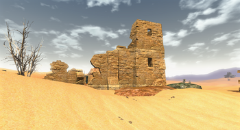 Ruiny w pobliżu Mora Sul