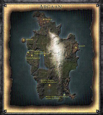 Mapa Argaanii