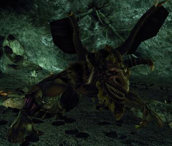 Bestia w jaskiniach Reddock