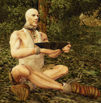 Niewolnik odpoczywający w mieście