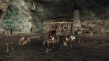 Buntownicy z Reddock przy ognisku