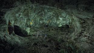 Wilcza kopalnia wnętrze