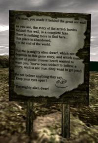 Wiadomość od Potężnego Obcego Krasnoluda (Gothic II)