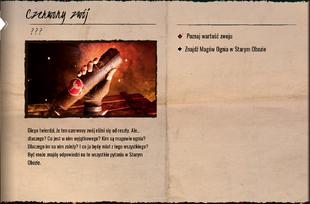 Czerwony zwój dziennik zadań