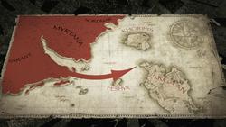Atak Rhobara III na Argaan (mapa) (Arcania Gothic 4) (by SpY)