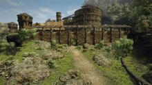 Odbudowane mury Montery