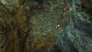 Jaskinia z pochrząkującymi bestiami dolna sala G3ZB