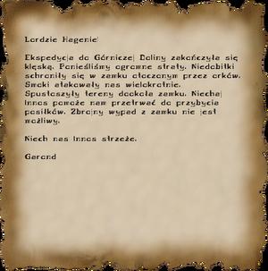 List do Lorda Hagena (G2)