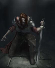 Kneeling swordsman by alexkuhn-d8ukssm copy
