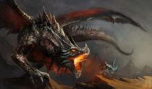 Knight-fighting-dragon-fantasy-scene-40933469