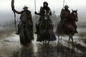 Men in rain