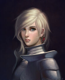 A girl in armour by micchu