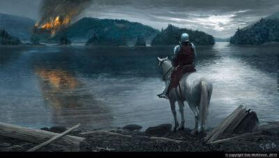 Burning Castle by Seb M