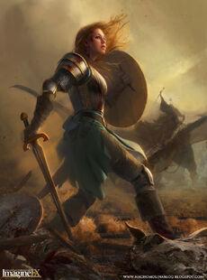 Eowyn vs the witch king by nachomolina-d5nhl4r