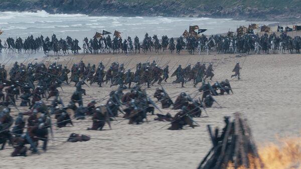 Baratheon Loyalists charging Blackfyres