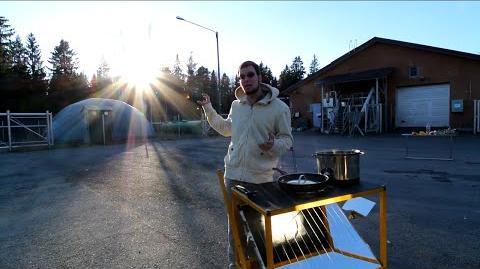 Solar Cooking in Sub-Zero Finland