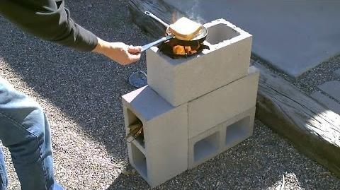 "The ""4 Block"" Rocket Stove! - DIY Rocket Stove - (Concrete Cinder Block Rocket Stove) - Simple DIY"