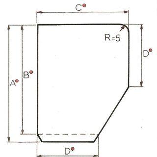 Rys 3. Panel pionowy prawy (2) lewy (3)