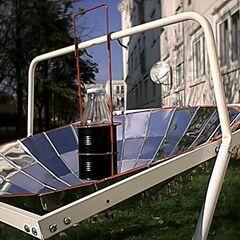 Kuchenka-pasteryzator solarny BabySolarCooker, pasteryzacja wody w butelkach