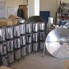Kuchenki paraboliczne i rakietowe w magazynie
