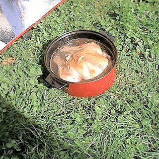 Kurczak w rosole ugotowany