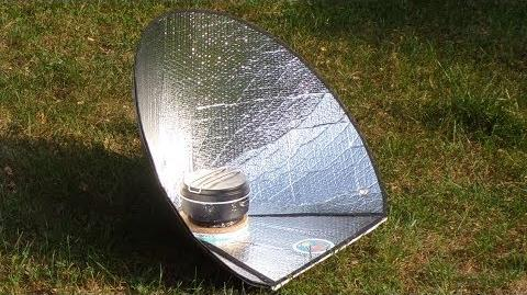 Kuchenka solarna stożkowa UltraLightCooker Scout (samokonstrukcja)