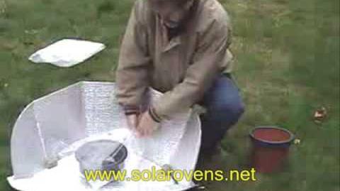 Simple Solar Panel Cooker Demonstration