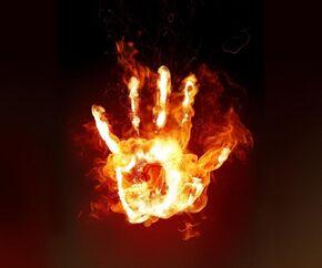 Burning-hand-wallpaper