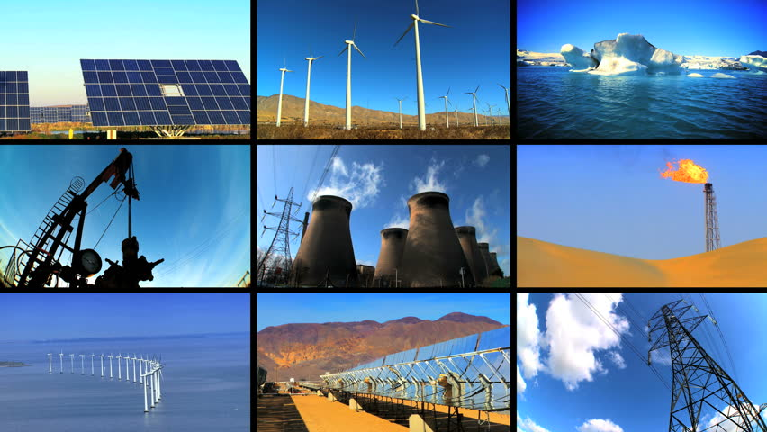 an image about different kind of energy of production.