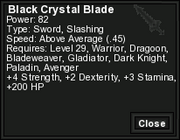 Black Crystal Blade