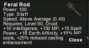 Feral rod
