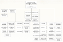 US Department of Justice Organizational Chart
