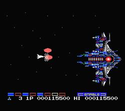 Gradius 2 MSX Misfit Warship