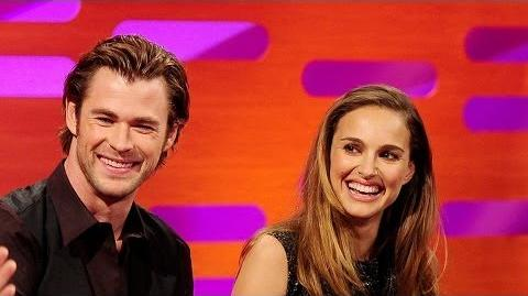 NATALIE PORTMAN & CHRIS HEMSWORTH's THOR Action Figures - The Graham Norton Show BBC AMERICA
