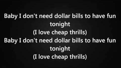 Sia - Cheap Thrills Ft. Sean Paul Lyrics