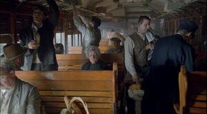 Julio en al tren