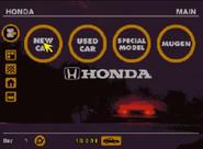 Honda GT Menu