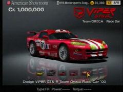 Dodge Viper GTS-R Team Oreca Race Car ♯91 '00