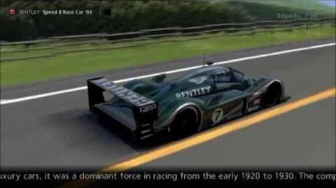 Bentley Speed 8 Race Car '03