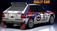 Lancia DELTA HF Integrale Rally Car '92 - Rear (GT3)