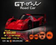 Toyota GT-ONE Road Car (TS020) '98 (GT3)