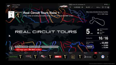 Real Circuit Tours (GT Sport)