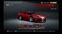 Dodge VIPER GTS R Concept '00