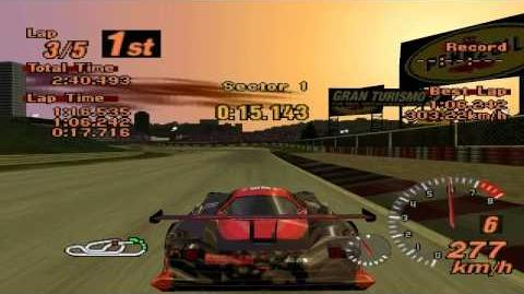 Gran Turismo 2 - Red Rock Valley Speedway - Nissan R390 GT1 LM Race Car '97 - ePSXe 1.8