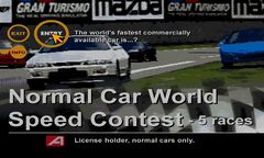 Normal Car World Speed Contest