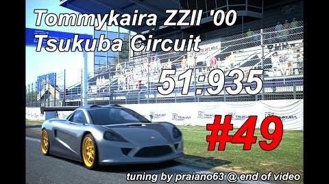 Gran Turismo 6 Seasonal Tommykaira ZZII @ Tsukuba Circuit wheelcam